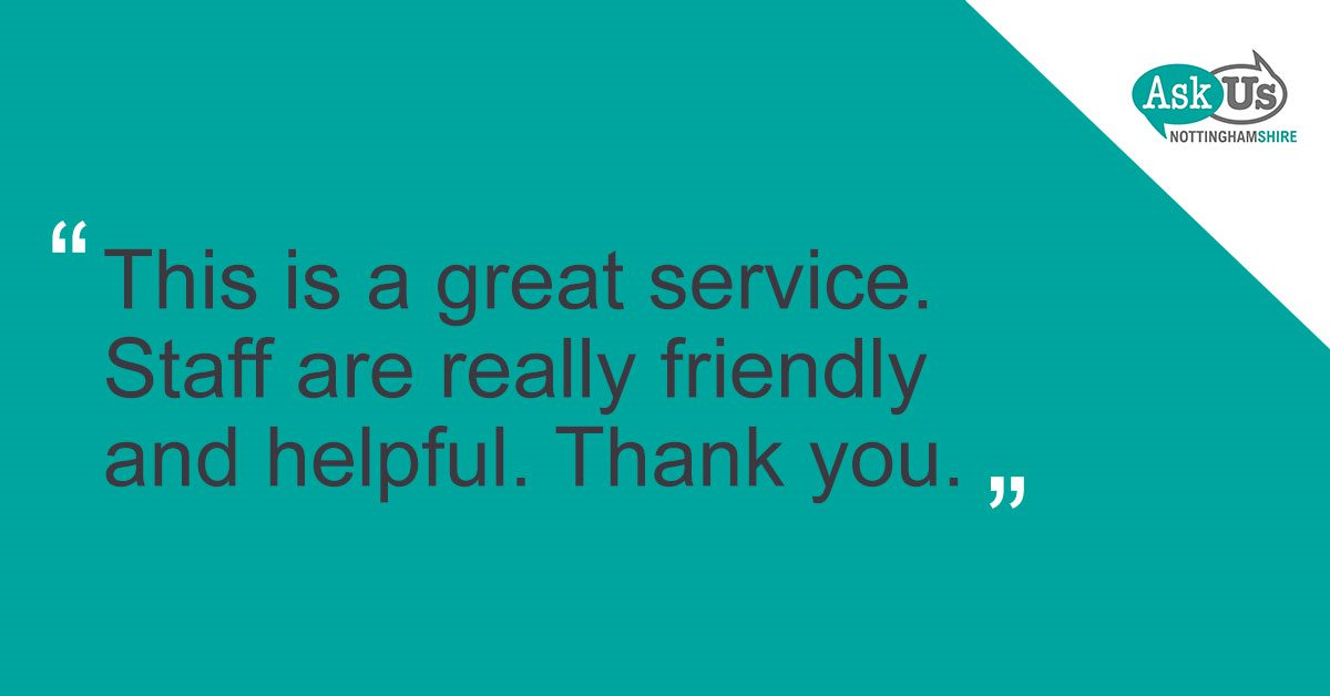 This is a great service. Staff are really friendly and helpful, thank you.